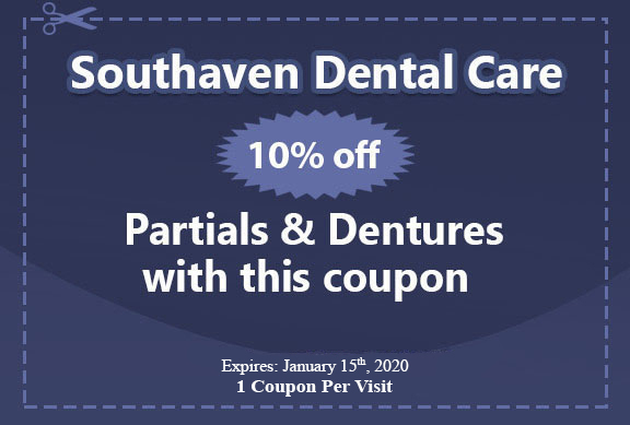 Partials & Dentures with this coupon